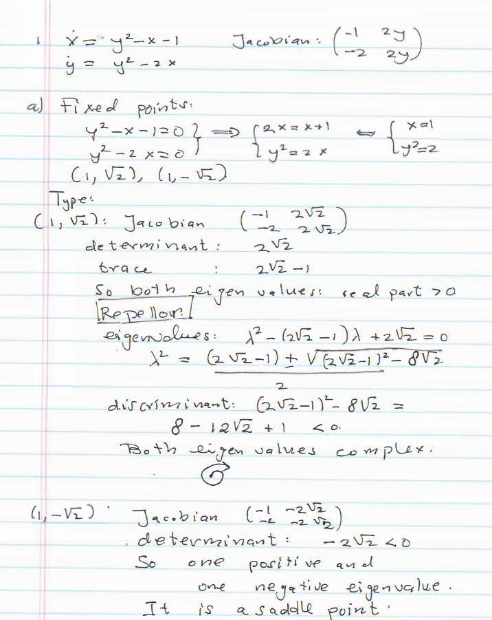 Dynamical System Problems