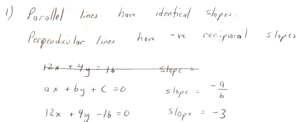 Algebra Problems Parallel or Perpendicular Lines