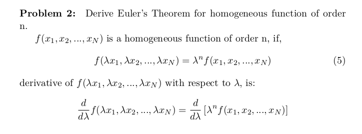 Statistical Thermodynamics: Critical Point of Berthelot EoS, and Euler's Theorem