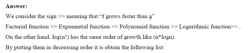 3 Tasks With Asymptotic Order of Growth for Algorithms