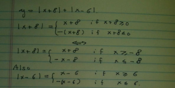 Piecewise Notation for Functions