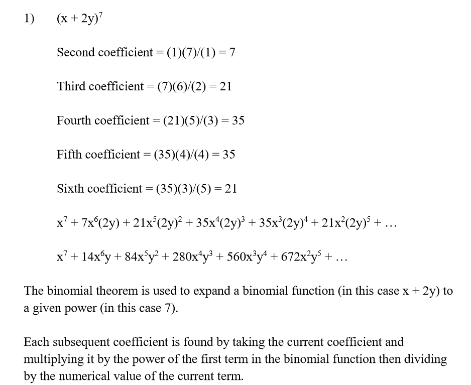 Binomial Theorem Questions