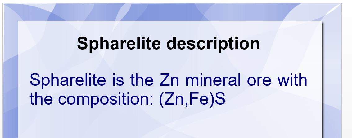 An Introduction to Sphalerite