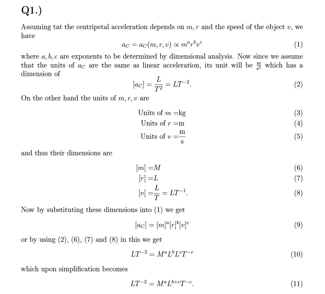 Classical Mechanics Questions