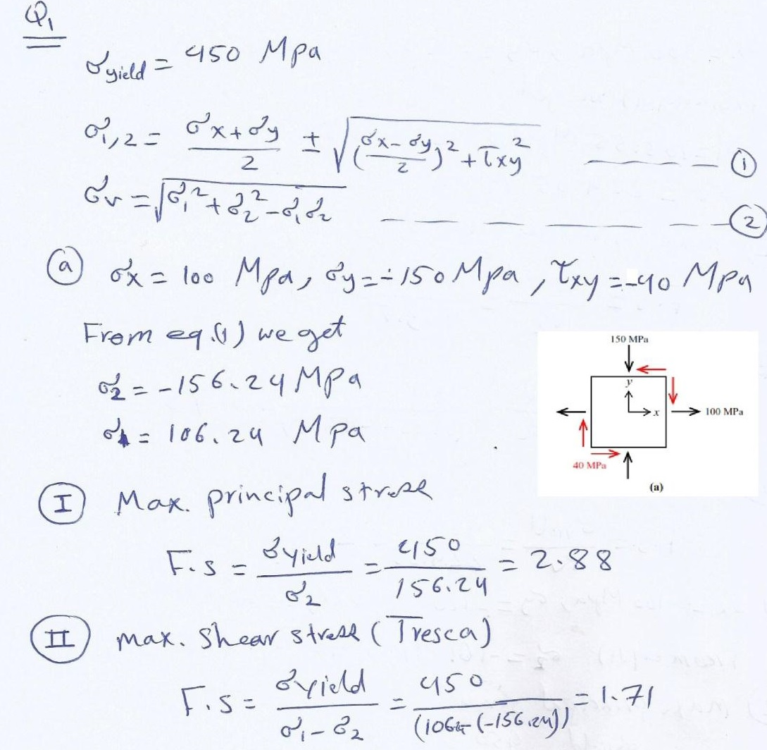 Advanced Strength of Materials Questions