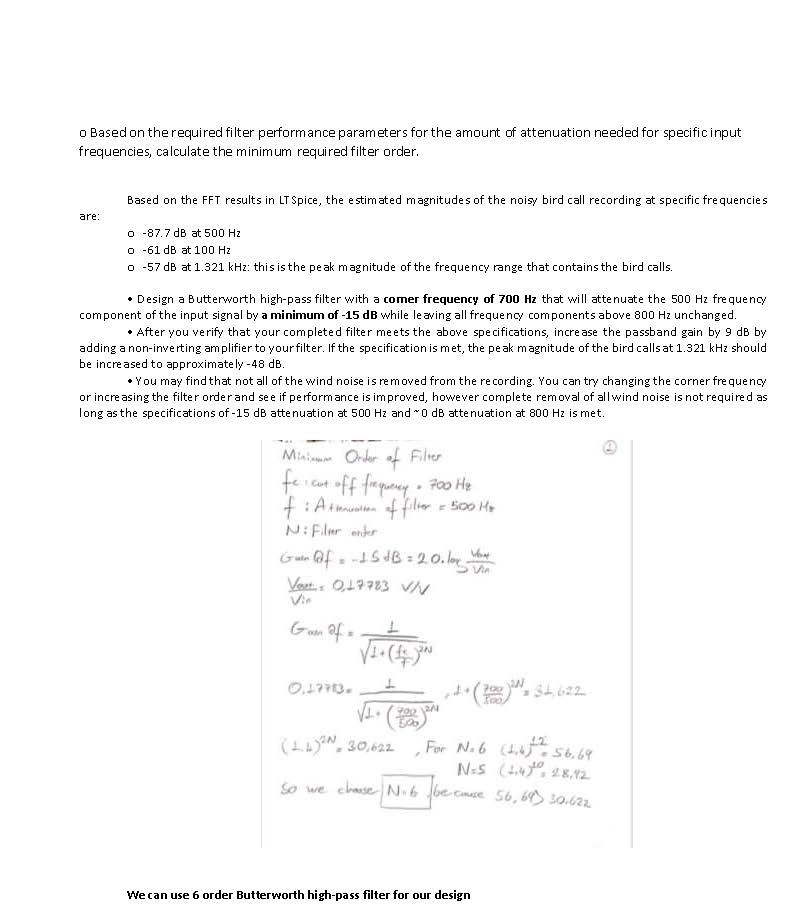 Circuit Analysis - Filter Design Project (565 words)