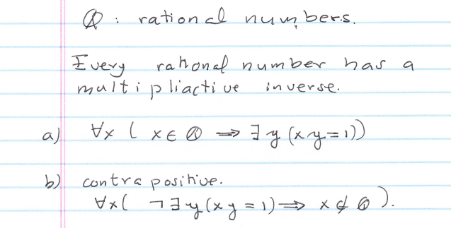 Rational Number Proofs