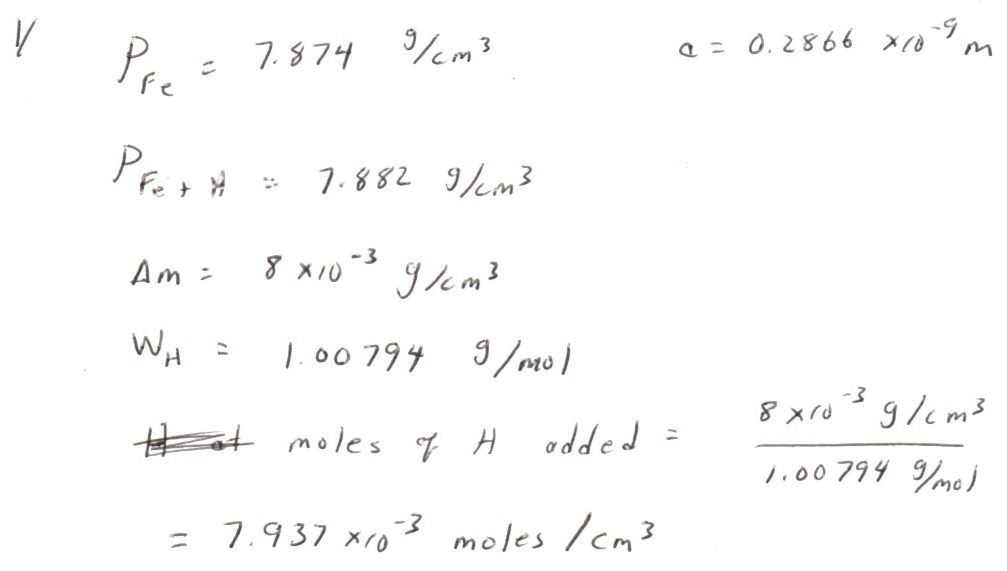 Calculations of BCC Iron Density