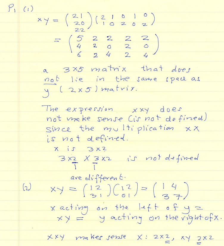 Linear Algebra Questions