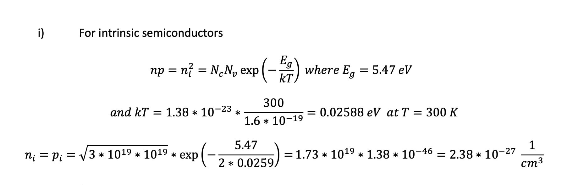 Semiconductor Physics Questions