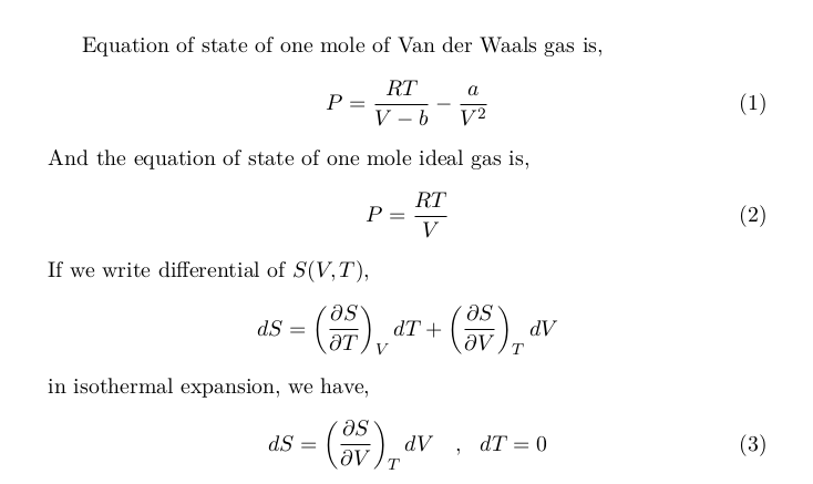 Comparing Isothermal Expansion of Ideal Gas and  Van der Waals Gas