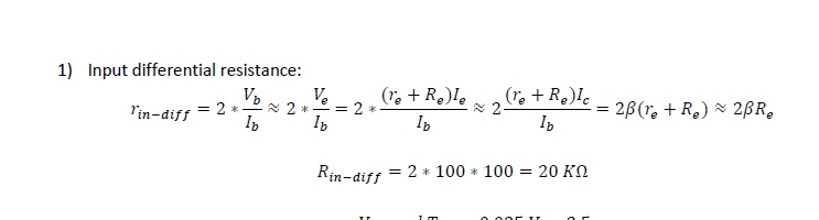 Differential Amplifier Analysis