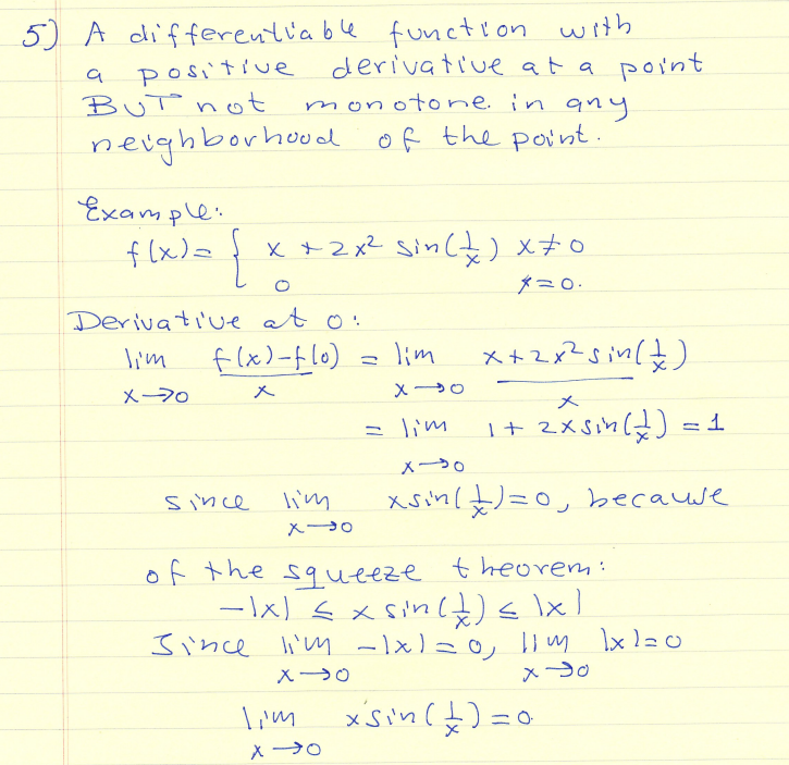 Differentiable Function Problems