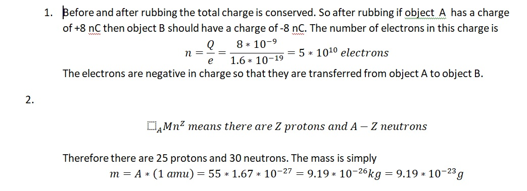 Electricity and Magnetism Questions