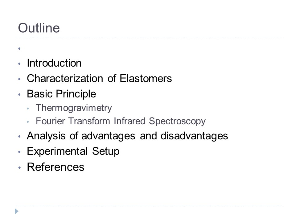 Application of Thermogravimetry and Infrared Spectroscopy in Carbon-Filled Elastomers (35 slides)
