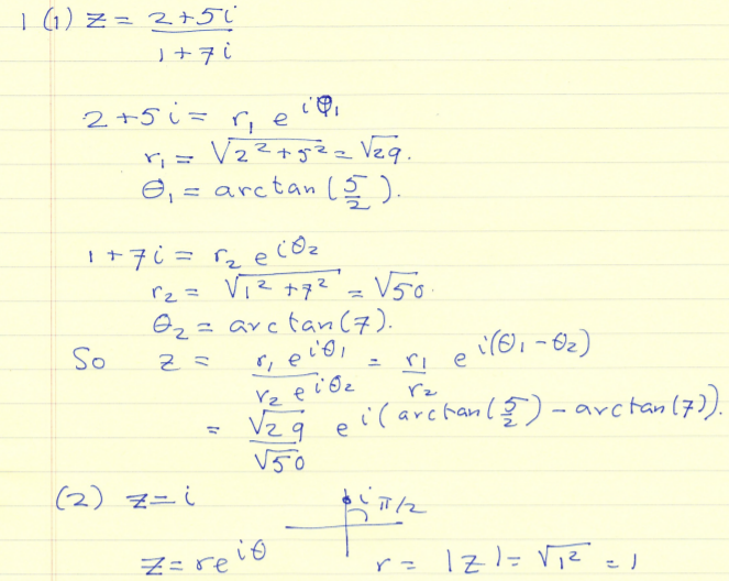 Complex Numbers Problems
