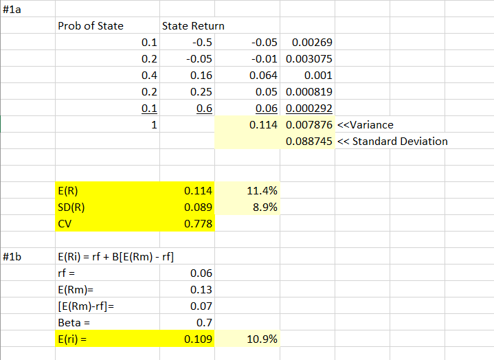 Rates of Return Questions