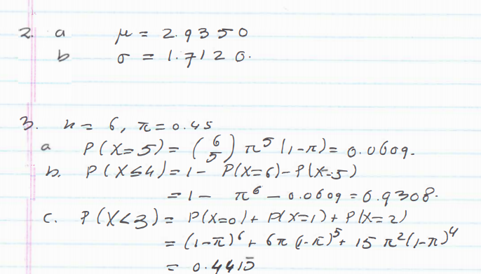 Statistics and Probability Questions