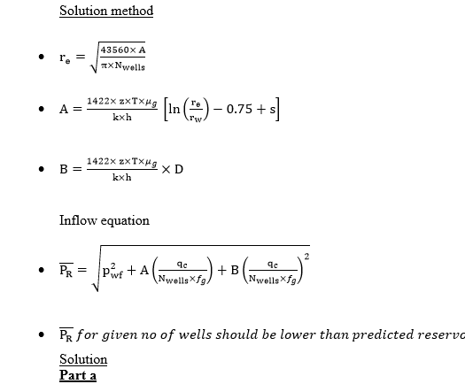 Petroleum Engineering Questions -  Water Drive Wet Gas Reservoir