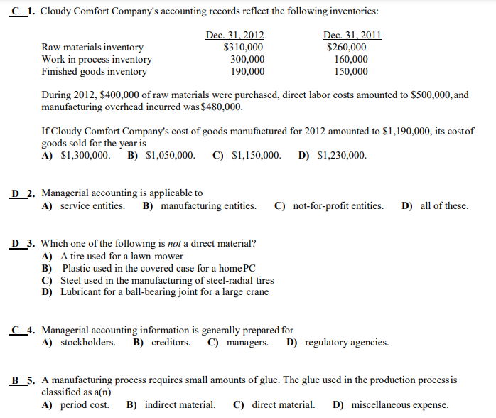 38 Accounting Questions And Their Solutions