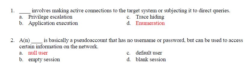 15 Multiple Choice Questions Involving IT Security & Audit (Certification)