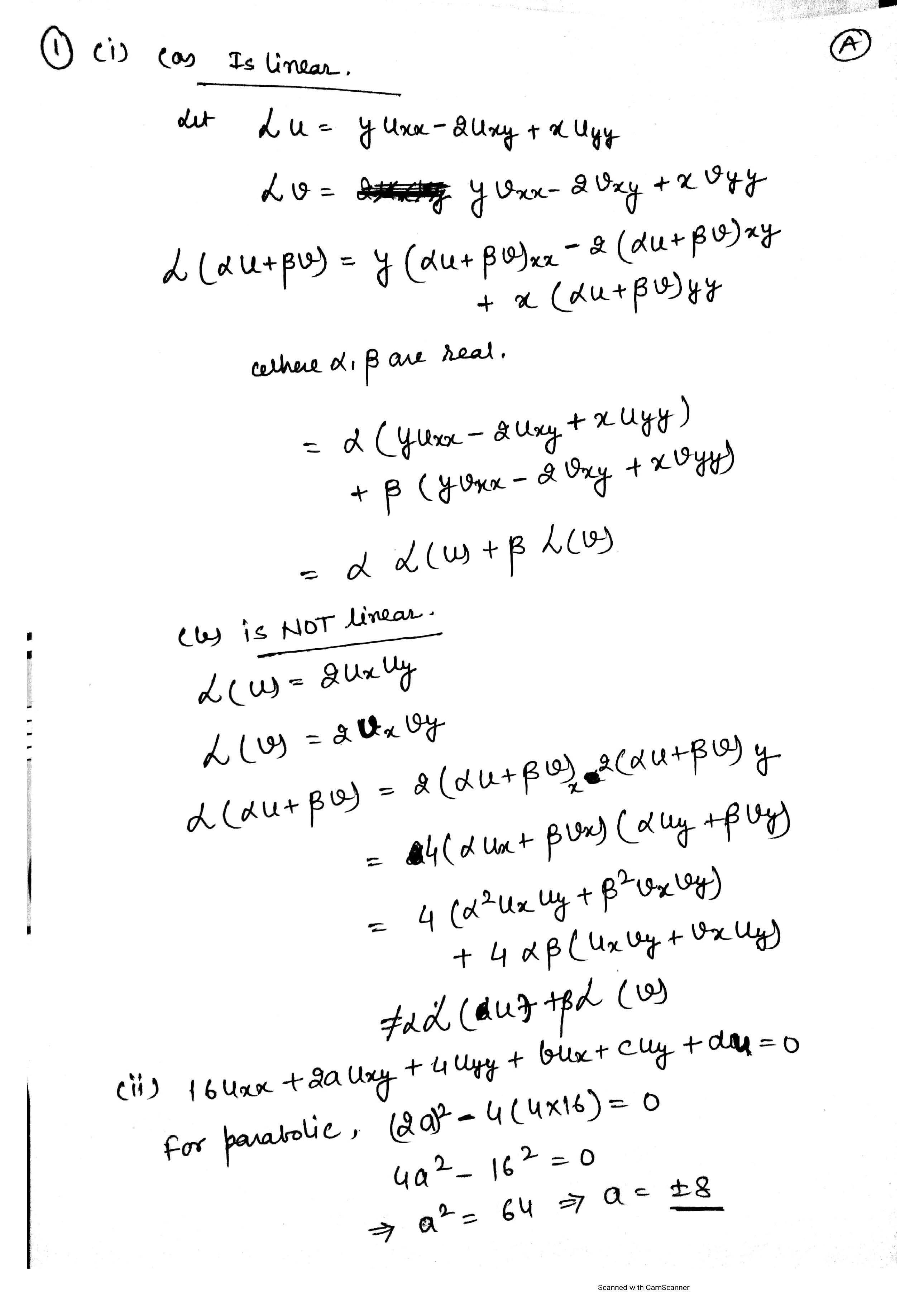 Differential Equations Questions