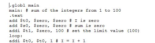 MIPS Assembly Code for SPIM Tool Sum of First 100 Squares