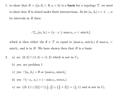 Topology Problems