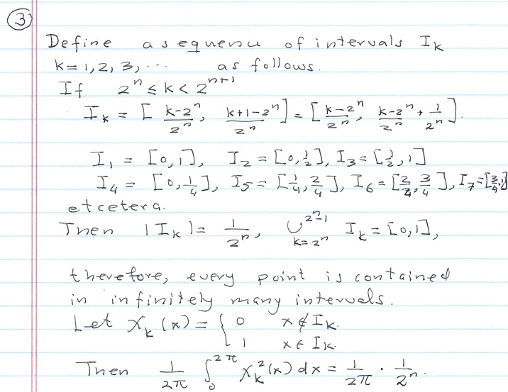 Sequences of Integrable Functions