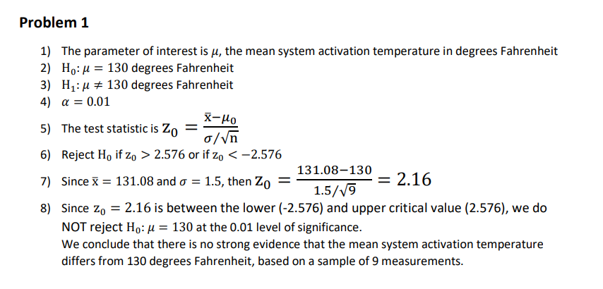 Advanced Statistics Questions