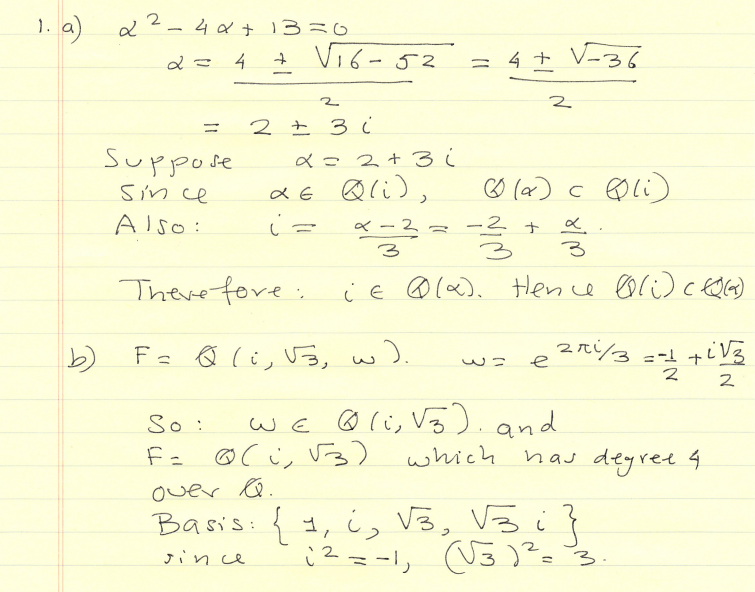 Abstract Algebra Questions