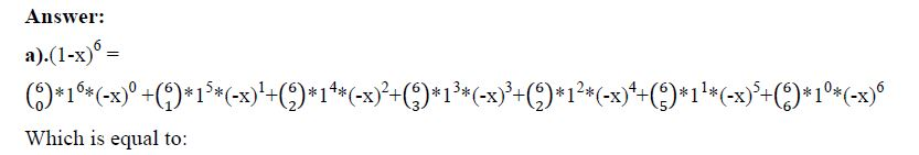 Short Exercise Involving Binomial Theorem