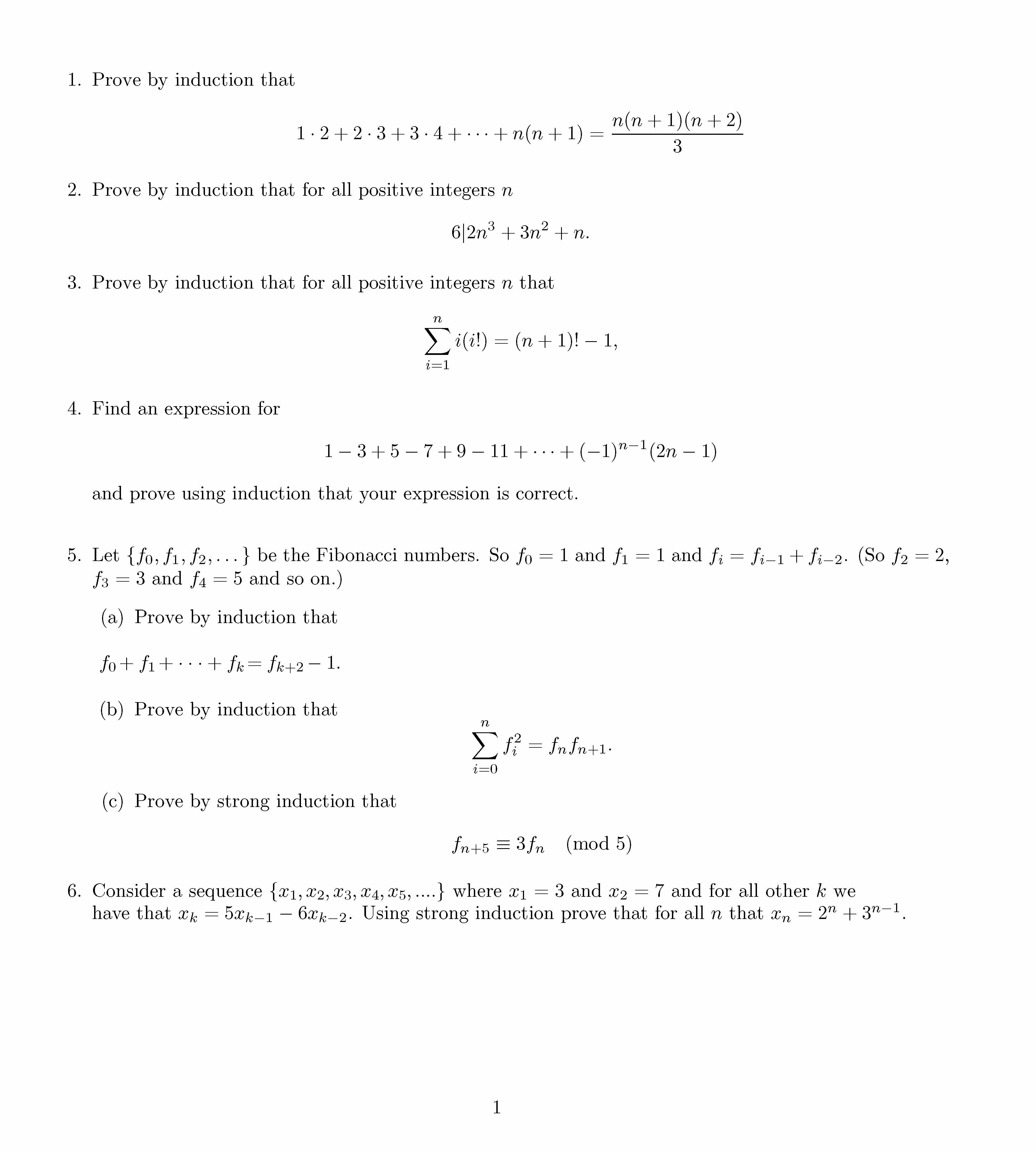 Proofs By Induction