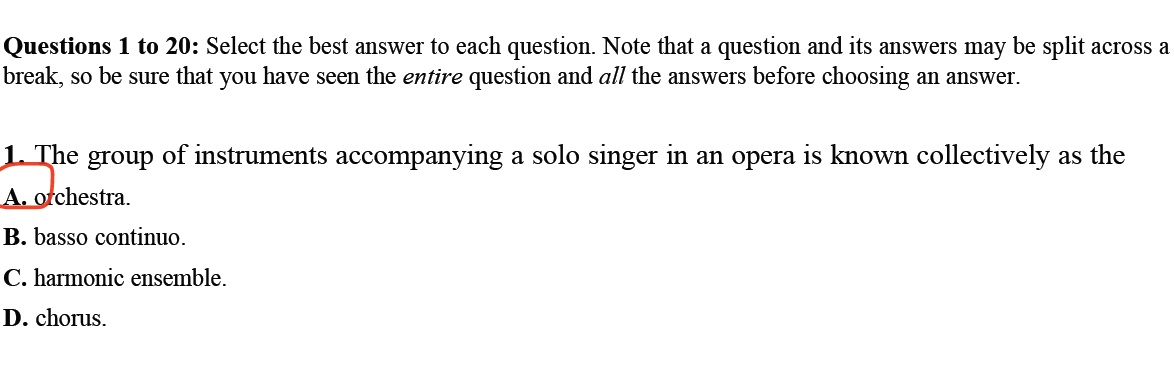 Review Questions on Music History (Baroque Era Music to 20th Century)