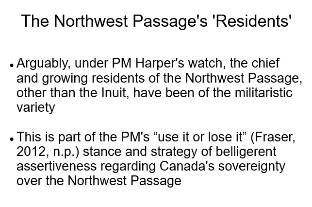 The Northwest Passage - Competing Parties (8 slides)
