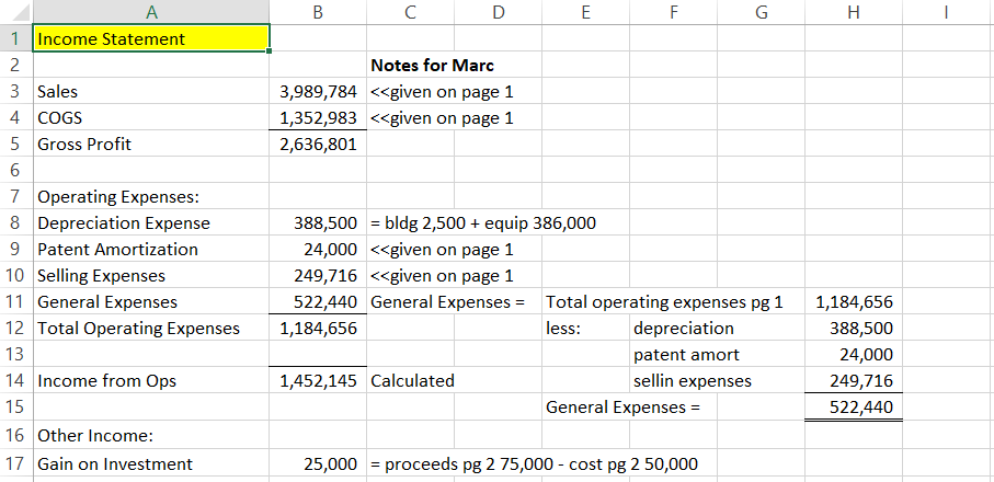 Financial Statement Project