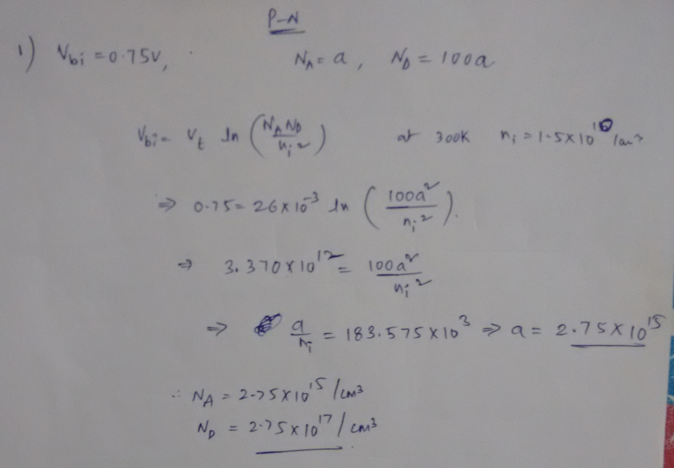 Design a Si PN-Junction, Maximum Electrical Field, Emitter, Base and Collector Currents