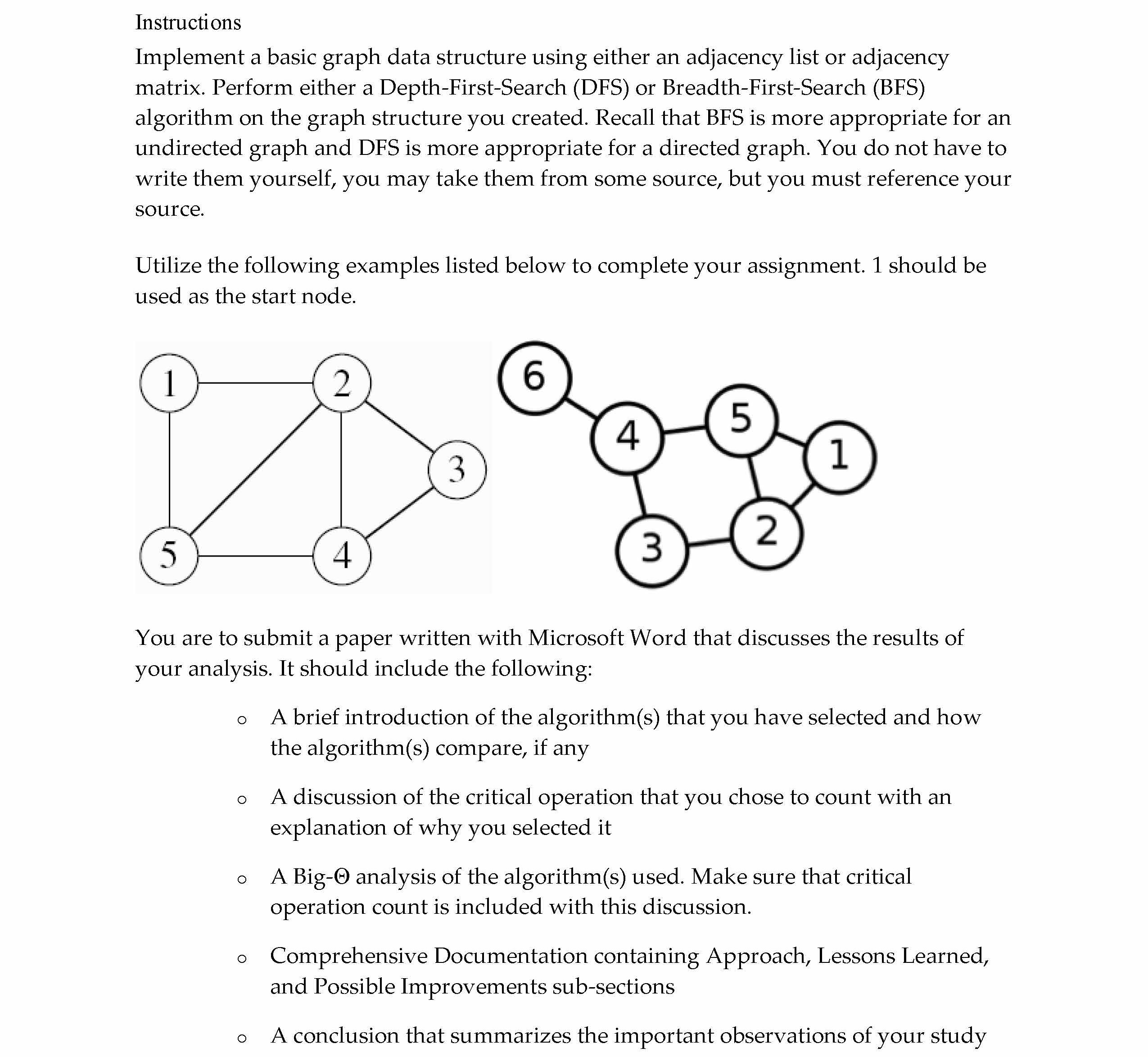 Data Structure Project With DFS Analysis and Java Source Code (1290 words)
