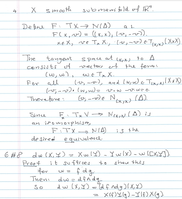 Differential Geometry Problems