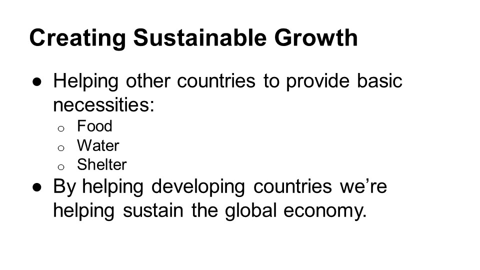 The Benefits of Investing in Developing Countries (6 slides)