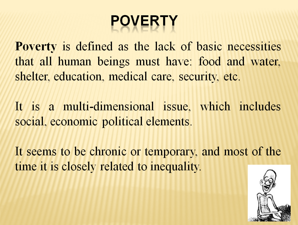 Poverty - an Overview (27 slides)