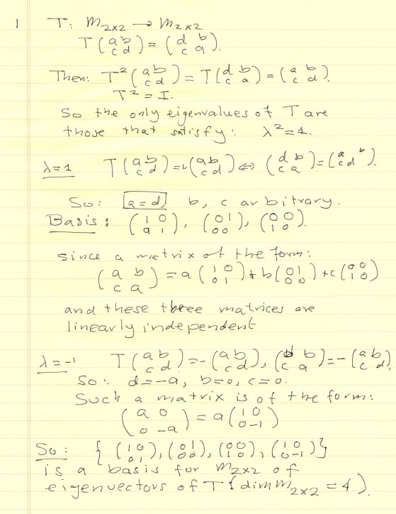 Linear Algebra Problems