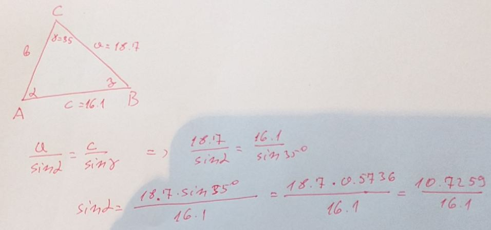 Law of Sines Problem