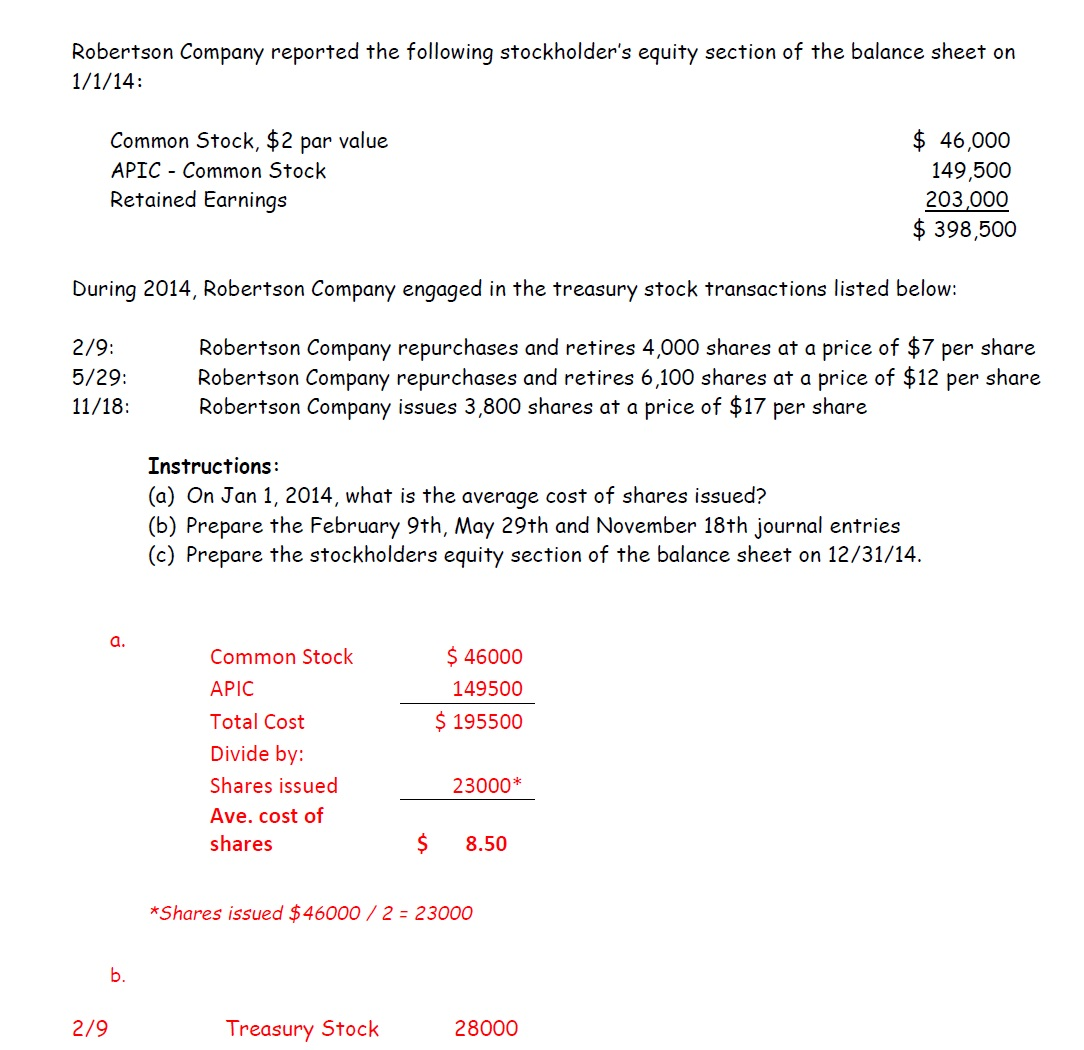 Robertson Company Accounting Questions