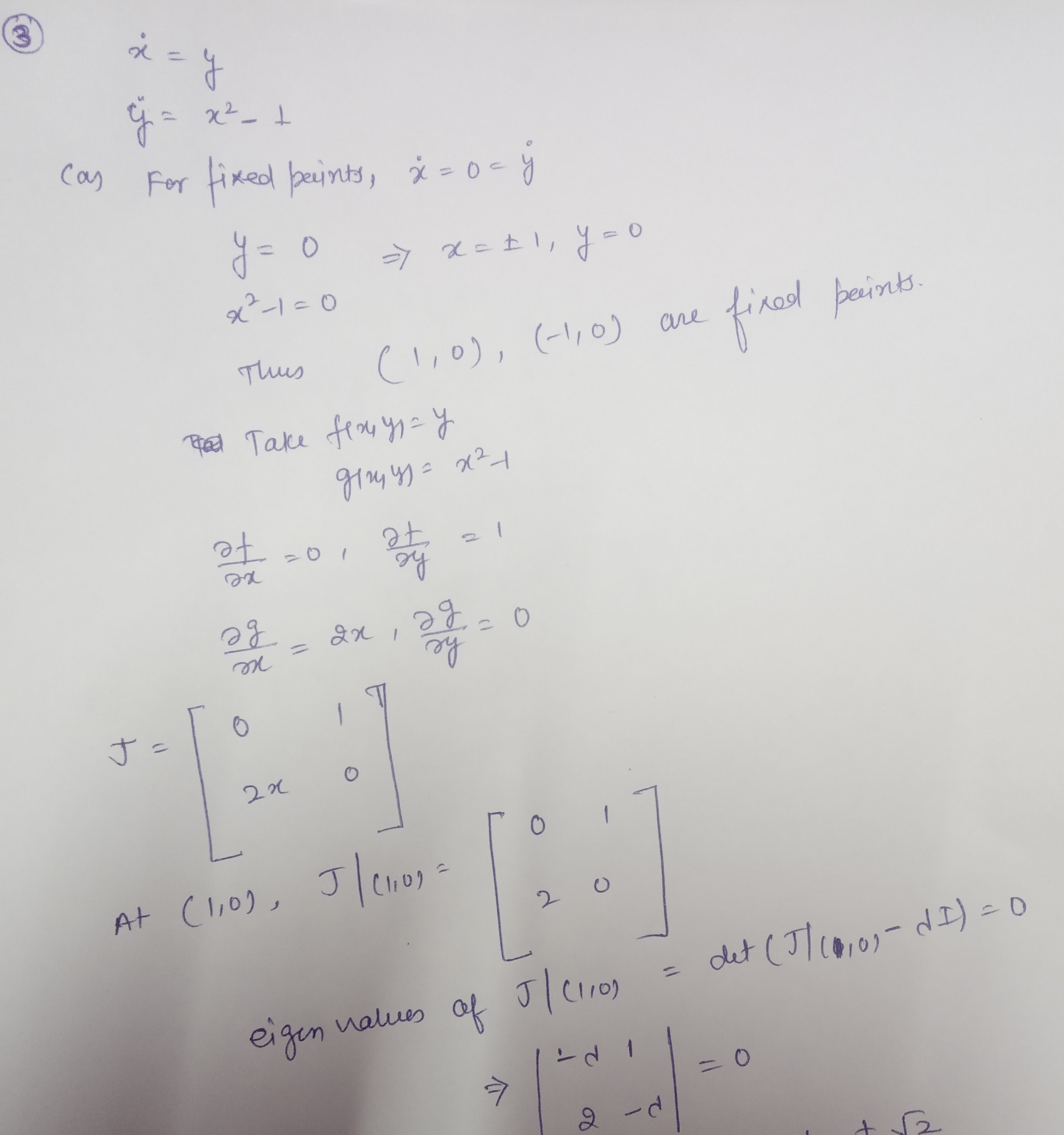 Differential Equations Questions: Motion, Linear Stability, System And Value