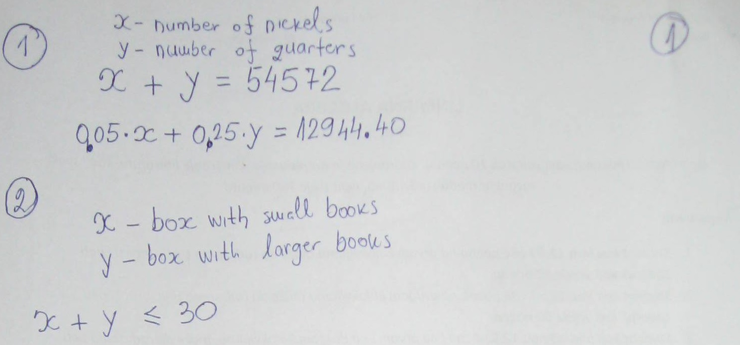 Linear Algebra System of Equations, Inequalities