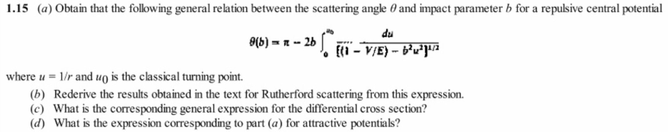 Classical Mechanics Question