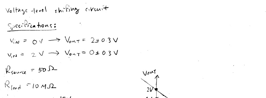 Voltage Level Shifting Circuit Design