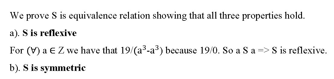 Equivalence Relation Question