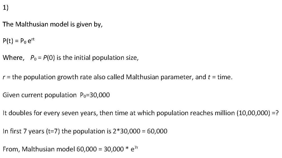 Rodent Population in a City: An Algebra Problem and its Solution